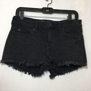 NWT AEO Super Low Shortie Jean Shorts Black 10